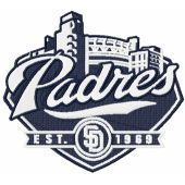 San Diego Padres baseball club machine embroidery design