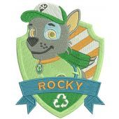 Rocky embroidery design 2