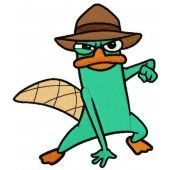 Perry the Platypus embroidery design 2