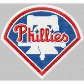 Philadelphia Phillies logo machine embroidery design