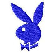 Playboy logo 2 machine embroidery design