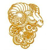 Ram machine embroidery design 2