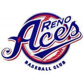 Reno Aces Baseball Club logo machine embroidery design