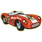 Retro Sport car embroidery design