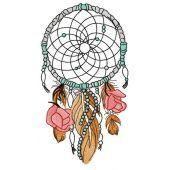 Romantic dreamcatcher embroidery design 2