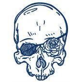 Romantic skull machine embroidery design 4