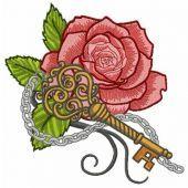 Rose and vintage key