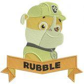 Rubble machine embroidery design 3