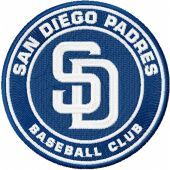 San Diego Padres logo machine embroidery design