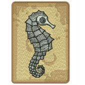 Sea horse machine embroidery design 2