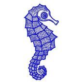Sea horse machine embroidery design 4