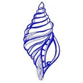 Sea shell machine embroidery design 4
