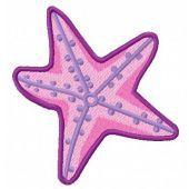 Sea star embroidery design 2