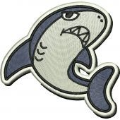 Shark machine embroidery design