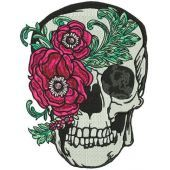 Skull with peony mask