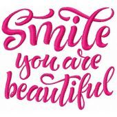 Smile you are beautiful machine embroidery design 2