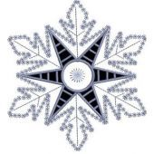 Snowflake Applique embroidery design