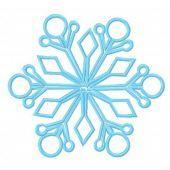 Snowflake machine embroidery design 15