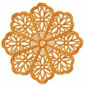 Snowflake machine embroidery design 1
