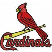St Louis Cardinals logo machine embroidery design