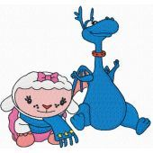 Lambie and Stuffy embroidery design