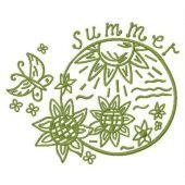 Summer machine embroidery design 5