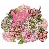 Summer bouquet machine embroidery design 2