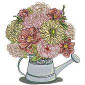 Summer bouquet machine embroidery design