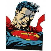 Superman 2 machine embroidery design