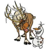 Sven and Olaf machine embroidery design