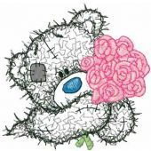 Teddy Bear with rose applique