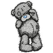 Teddy Bear bye bye embroidery design