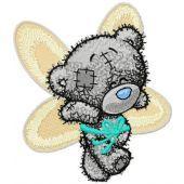 Teddy Bear can fly embroidery design