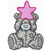 Teddy Bear Happy Christmas embroidery design
