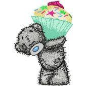 Teddy Bear Big cupcake embroidery design