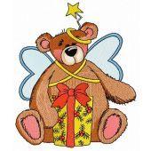 Teddy bear fairy embroidery design 7