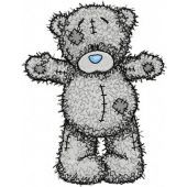 Teddy Bear Hello friend embroidery design