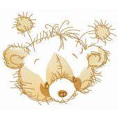 Teddy bear muzzle sketch embroidery design