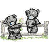 Teddy Bear Romantic embroidery design