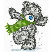 Teddy Bear likes winter embroidery design