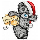Teddy Bear Teddy Christmas postman embroidery design