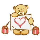 Teddy's painting embroidery design 3