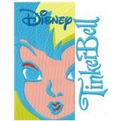 Tinkerbell embroidery design 8