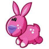 Tiny bunny machine embroidery design