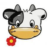 Tiny cow machine embroidery design 2