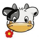 Tiny cow machine embroidery design 2