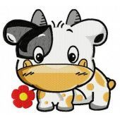 Tiny cow machine embroidery design