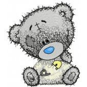 Teddy bear I dressed myself embroidery design