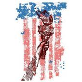 Torch of liberty machine embroidery design 3