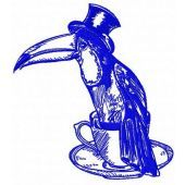 Toucan machine embroidery design